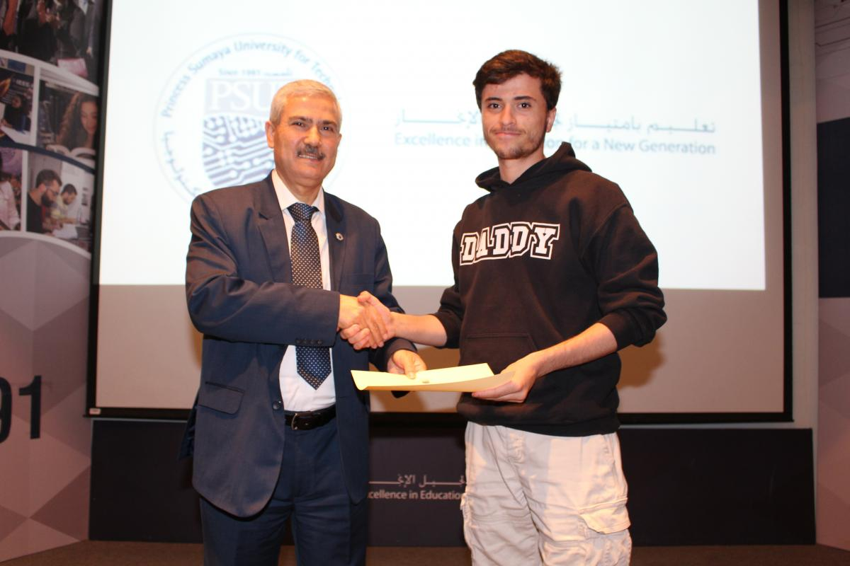 PSUT honor students combine work and study